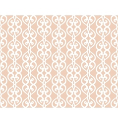 White forged lacing seamless pattern on beige vector