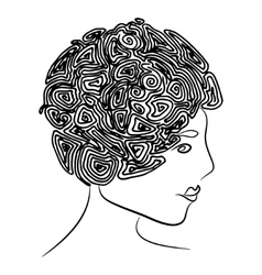 Curly coiffure vector