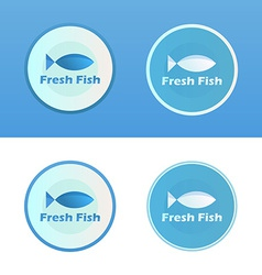 Icons of fish with caption vector