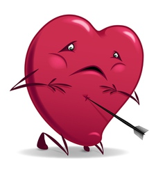 Heart wounded isolated vector