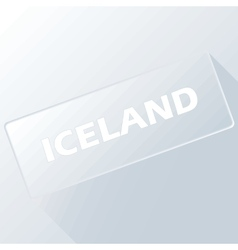 Iceland unique button vector