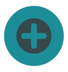Create flat soft blue colors round button vector