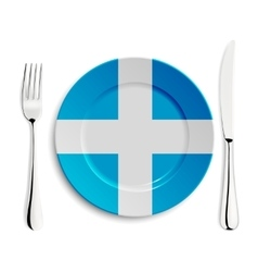 Plate with flag of greece vector