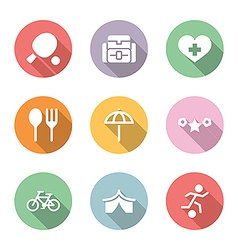 Icon set activity and rest color with shadow vector