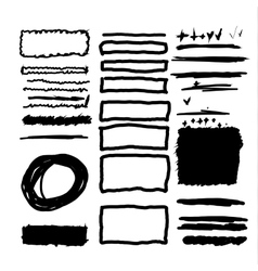 Hand drawn frames lines and circle collection vector