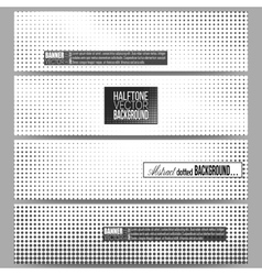 Set of modern banners halftone background vector