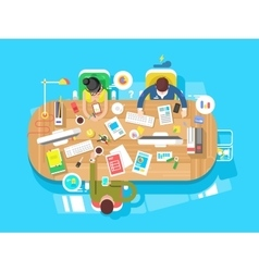 Conference office workspace vector
