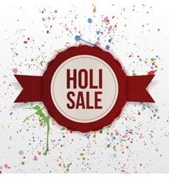 Holi sale indian festival colorful banner vector