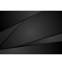 Black abstract corporate background vector