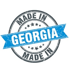 Made in georgia blue round vintage stamp vector