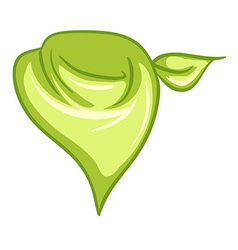 A yellowgreen scarf vector
