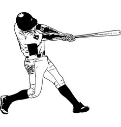 baseball player sketch vector image vector image
