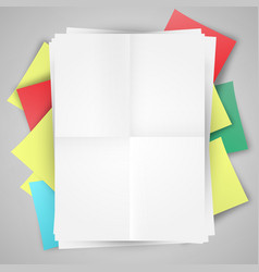 Blank papers and post-it-s vector