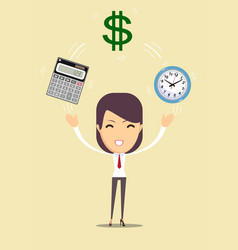 bookkeeping services and time management vector image