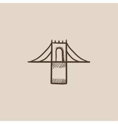 Bridge sketch icon vector