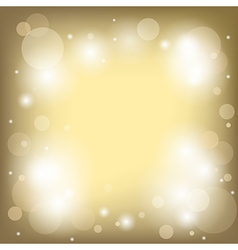 Bright gold background with bokeh - used mesh vector