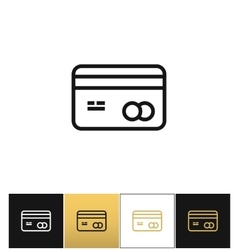 Business or credit card icon vector