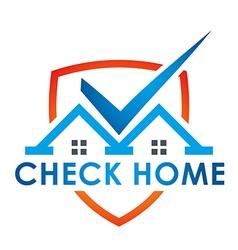 Check blue house illuminated vector