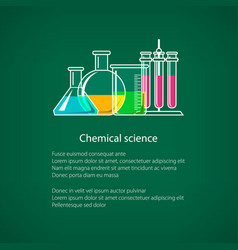 Chemical laboratory equipment flyer vector