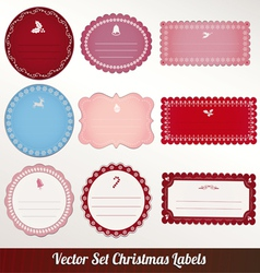 Christmas frame set design vector
