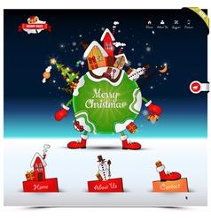Christmas night website template vector