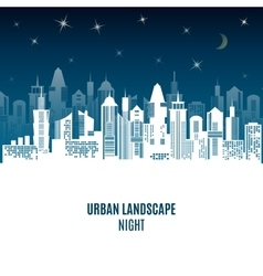 City urban design night landscape vector