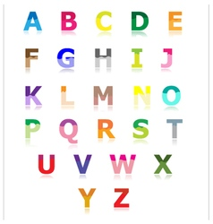 Colorful alphabet set a to z vector image