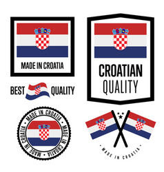croatia quality label set for goods vector image vector image