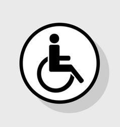 Disabled sign flat black vector