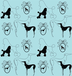 dogs background vector image vector image