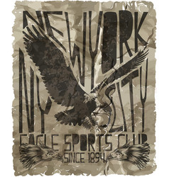 Eagle sport tee graphic vector