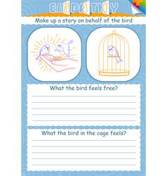 Game empathy bird cage vector