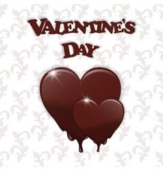 Gift card with a melting heart and valentine s day vector