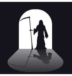 Grim reaper silhouette vector