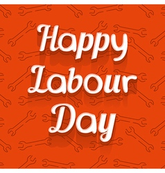Happy Labour Day Design Card vector image