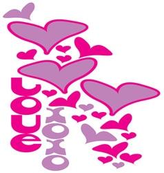Love xoxo vector
