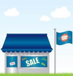 market shop vector image
