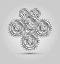 metal mechanical gear parts engine machine vector image vector image