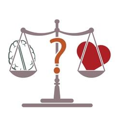 Mind or heart vector