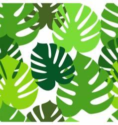 Monster leaves pattern vector