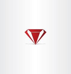 Red diamond gem icon vector