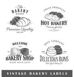 Set of vintage bakery labels vector image vector image