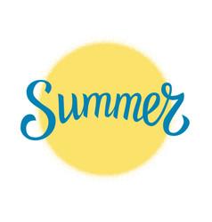 Summer and yellow circle vector