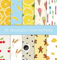 Ten food pattern vector image vector image