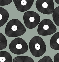Vinyl lp seamless pattern retro music background vector