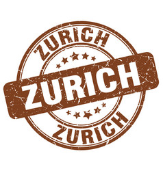 Zurich brown grunge round vintage rubber stamp vector