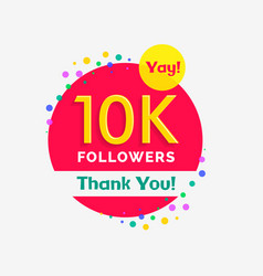 10000 followers poster with thank you vector