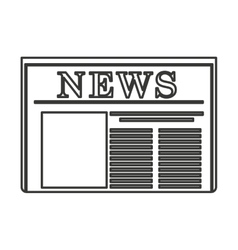 Newspaper paper news icon vector