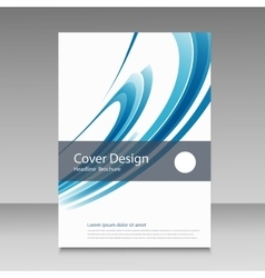 Abstract line brochure design vector image