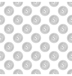 Coin seamless pattern vector image